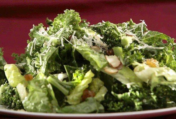 Chopped kale salad with lemon vinaigrette.