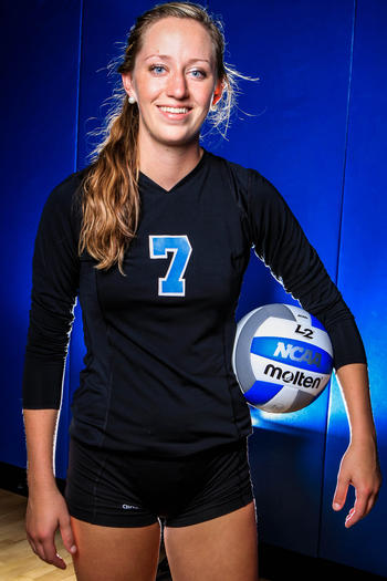 Emma Ballantyne had 12 kills for Hagerty in a 3-2 victory over Lake Mary Thursday.
