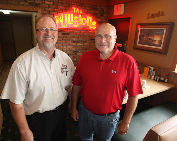 Bill, left, and Duane Sutton of the Millstone Family Restaurant.