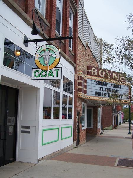 The historic Boyne City theater, the Bellamy Opera House, may see new life in the near future. The owner of the building that houses the Thirsty Goat and adjacent theater, Brian Asher, announced Thursday his desire to donate the theater to Boyne City's Main Street program.