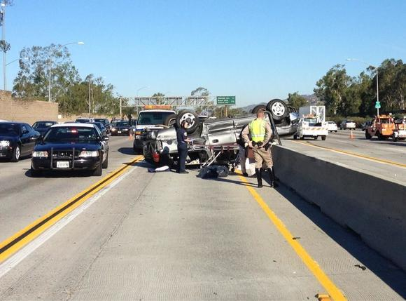 An overutrned SUV on the eastbound 134 Freeway was involved in a fatal crash Friday, Sept. 14.