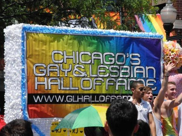 Chicago's Gay and Lesbian Hall of Fame sign at the 2011 Pride Parade