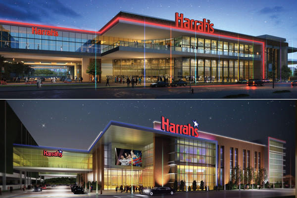 Top: Design plans by Cleveland-based KA, Inc. for Baltimore Harrah's. Presented to city design panel Thursday. Bottom: Plans for same casino by Baltimore design firm Ayers Saint Gross presented in November 2011 to Maryland's casino location commission.