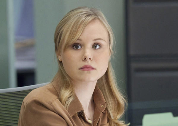 Celebrity scandals: The naked truth: Alison Pill, a star of HBOs The Newsroom, whose character Maggie is prone to crashing into all sorts of inanimate objects, crashed into a technological brick wall in real life as she mistakenly tweeted out a topless picture of herself.   Yep. That picture happened, Pill wrote in the aftermath. Ugh. My tech issues have now reached new heights, apparently. How a deletion turned into a tweet... Apologies.   MORE: Alison Pill of The Newsroom accidentally tweets topless photo