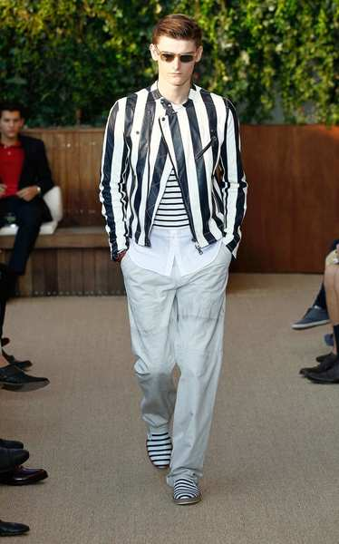 Most memorably all-in on the trend was Tommy Hilfiger, whose collection offered a surfeit of stripes. There