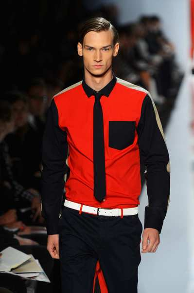 "Nearly as ubiquitous as stripes this season was the use of bold color-blocking. Nautica took a sporty approach on swimsuits, shorts and technical outerwear. Michael Bastian offered a two-tone version of five-pocket denim and created a color-blocked effect on cashmere sweaters. <br/> Michael Kors' take on ""geometric glamour"" resulted in some of the best and boldest color-blocking of New York Fashion Week ¿ pairing navy blue with a range of colors on crisp-looking color-blocked twill blazers and coats, denim trousers and twill shorts."