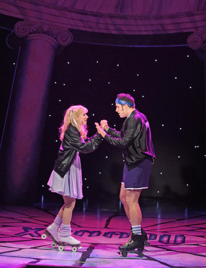 "Gina Milo and Chris Critelli in ""Xanadu"" at Drury Lane."