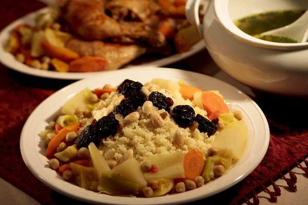 Couscous with seven blessed vegetables.