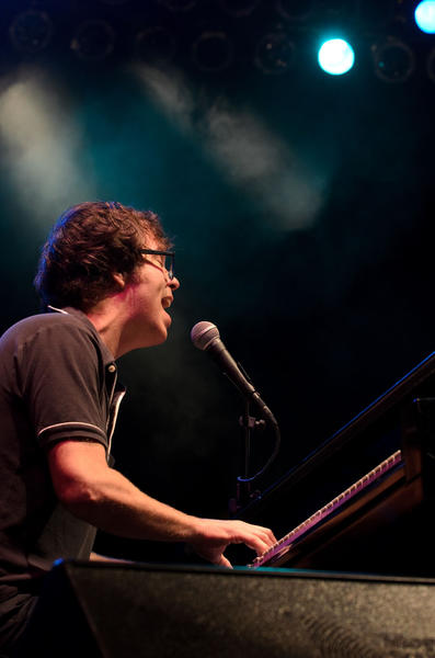 A reunited Ben Folds Five kicked off their tour at Mountain Park in Holyoke.