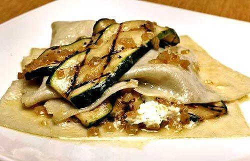 Free-form zucchini lasagna.