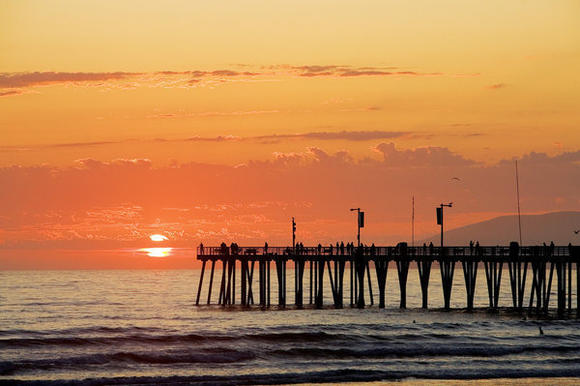 Pismo Beach's Sunset Pier in the fall