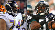 Eagles DEs Trent Cole and Jason Babin vs Ravens OTs Kelechi Osemele and Michael Oher