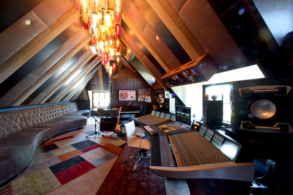 The recording studio has been decorated with drop-glass light pendants and soundproofing panels in cottons and silks, but the studio's technical capabilities are what pushed the estimated cost to $3.5 million, Culotti said.