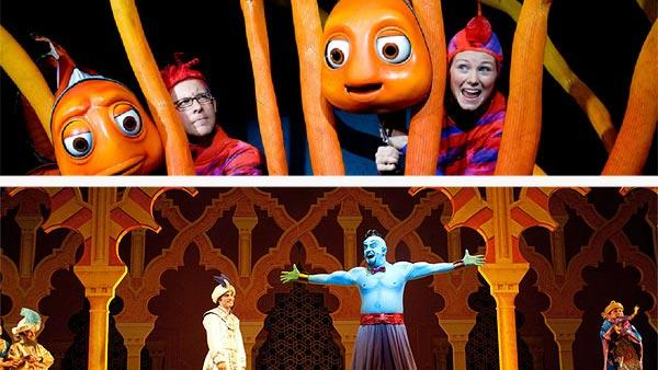 There's nothing like a little bit of Broadway at Disney. Disneyland resort offers up one show -- Disney's Aladdin -- A