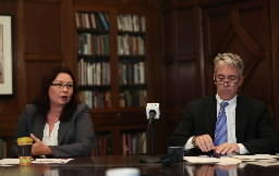 Democrat Tammy Duckworth and Republican Rep. Joe Walsh, seen here during a Tribune editorial board appearance, sharpened their attacks in a Friday night debate.