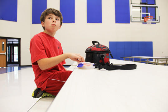 Jacob Tobin, a fifth-grader at C.C. Lee Elementary School, was diagnosed with a life-threatening peanut allergy at age 2. He has not had an allergic reaction yet and takes precautions while in the lunchroom.