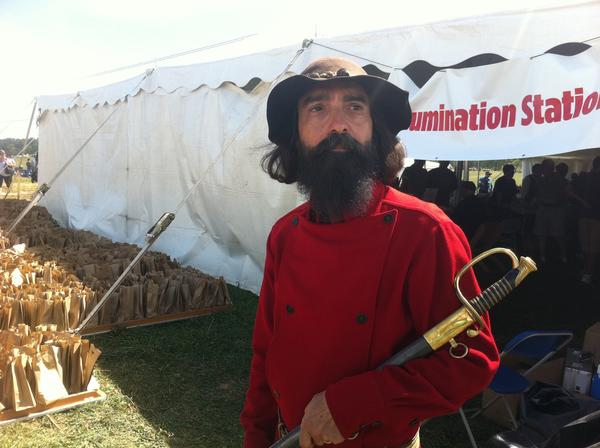 "Patrick Falci, who played Gen. A.P. Hill in the movie ""Gettysburg,"" gave a living-history presentation of his role Saturday at the site of the 150th anniversary re-enactment of the Battle of Antietam."