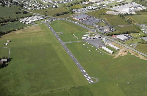 Aerial photo of Braden Airpark in Forks Township. Lehigh Valley International Airport is llooking to sell the 74-year-old airport.
