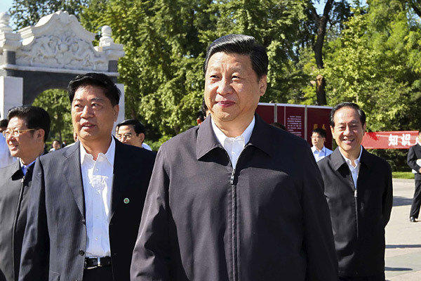 Chinese Vice President Xi Jinping makes his first public appearance in two weeks at China Agricultural University in Beijing.