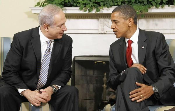 Israeli Prime Minister Benjamin Netanyahu and President Obama meet at the White House in 2010.