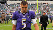 <strong>PHILADELPHIA </strong>– When his final pass sailed over Ray Rice's head and hit the turf at Lincoln Financial Field, Ravens quarterback Joe Flacco threw his hands up in the air in seeming desperation and disbelief.