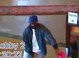 Man wanted in connection with Evergreen Park bank robbery.