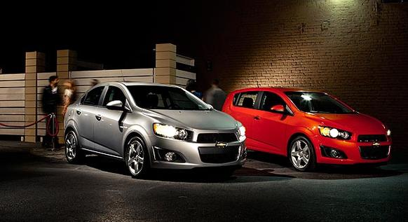 Like its competitors, which include Hyundai's Accent and Ford's Fiesta, the Sonic comes in sedan and hatchback configurations. Both base versions are powered by a 1.8-liter, four-cylinder engine that puts out 138 horsepower and 125 pound-feet of torque. <br>