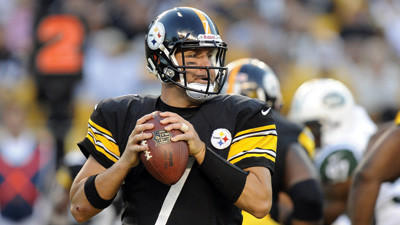 Ben Roethlisberger in action against the Jets on Sunday.