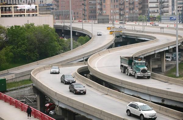 The Circle Interchange is composed of the ramps where the Kennedy, Dan Ryan and Eisenhower expressways converge, along with Congress Parkway, near downtown.)