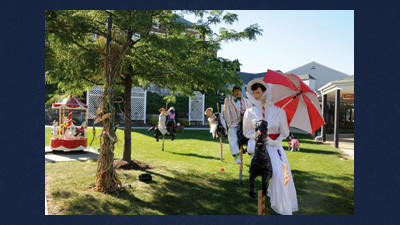 Pages and Light bookstore won first place in the business division at the Sept. 15 Scarecrow Fest with their scarecrow display, Mary Poppins.