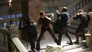 Miles Matheson (Billy Burke) fighting