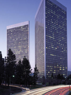 The U.S. division of shopping center giant Westfield will rent 81,124 square feet in one of the Century Plaza Towers, above, for it U.S. headquarters.