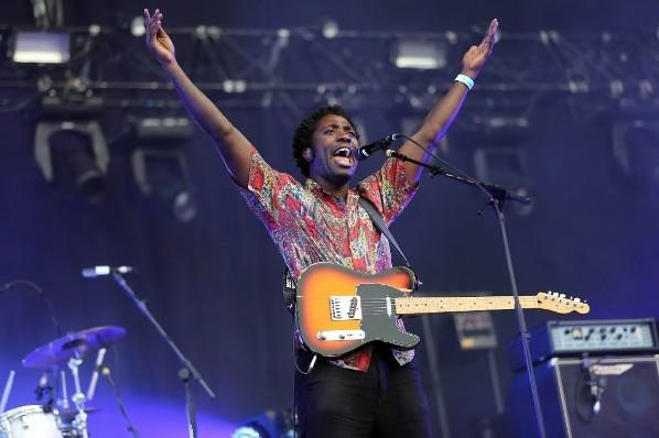 Bloc Party singer Kele Okereke performs during the Rock-en-Seine music festival August 24, 2012 in Saint-Cloud.