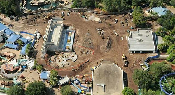 Construction continues on the Antarctica expansion at SeaWorld Orlando. The new land is set to open in spring 2013.