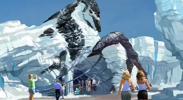Renderings of Antarctica expansion at SeaWorld Orlando. The new land is set to open in spring 2013.