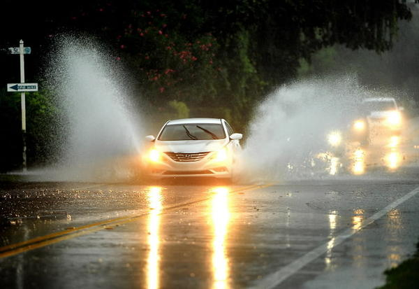 Palm Beach County was drenched by Hurricane Isaac.
