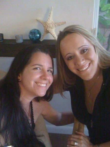 Cary Tullos, left, and Tara Tuttle met via MySpace and take care of Tuttle's two daughters in Coral Springs.