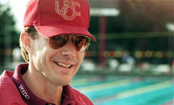 Mark Schubert, an eight-time Olympic swimming coach and head coach at Golden West Swim Club in Huntington Beach, is shown in 1996.