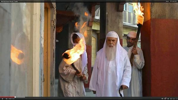 "A scene from the 14-minute video trailer for the film ""Innocence of Muslims,"" which has been blamed for inciting violence in Libya, Egypt and Yemen."