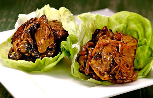 Philly cheesesteak lettuce cups.