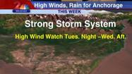 Tuesday High Wind Watch Latest in Southcentral's Weather Woes