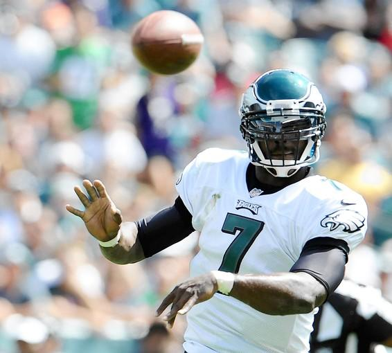 Eagles quarterback Michael Vick has thrown six interceptions in the first two games.