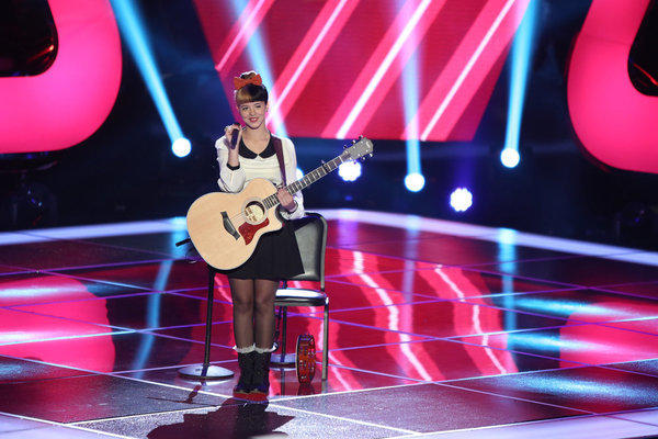 "Melanie Martinez performs at the ""Blind Auditions"" for NBC's ""The Voice."""