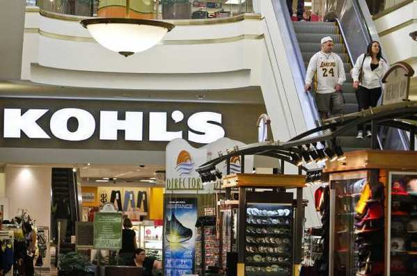 A Kohl's store at the South Bay Galleria in Redondo Beach. The parent chain said it would hire more than 52,700 seasonal workers for the holiday shopping season.