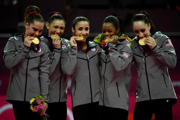 How many of you have already started researching your U.S. women's gymnastics team outfits? It's going to be the group costume of the year. Now you have to decide who's going to be McKayla Maroney, Kyla Ross, Alexandra Raisman, Gabby Douglas or Jordyn Wieber. <br><br>(Sidebar: Can we please ask that no one do blackface Gabby Douglas? Please? Can we just stop doing black/white/brown/yellow/red face overall? You look like an idiot and no one wants to sleep with you.)