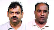 Davendra Patel, 61, and Rajendrakumar Patel, 52,  Police photos