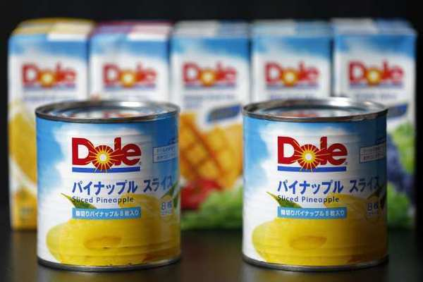 Dole Food Co. products are displayed at Itochu Corp. headquarters in Soka City, Japan.