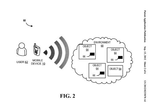 Graphic of Bank of America patent-pending technology for live-video analysis and augmented reality