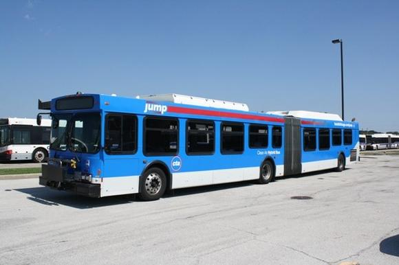 The CTA's bus rapid transit bus
