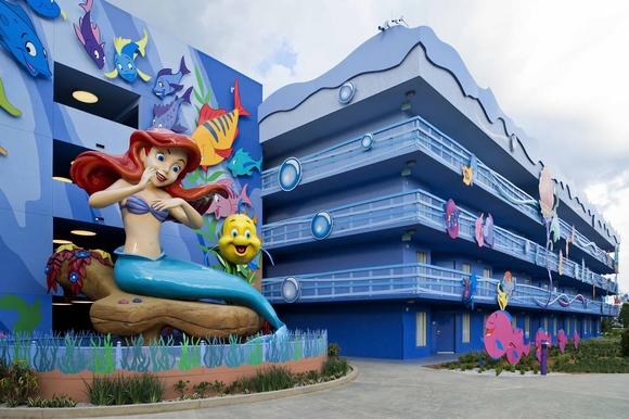 The Little Mermaid wing of Disney's Art of Animation Resort